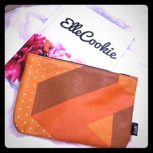 TETRIS X IPSY Orange Geometric Print Makeup Bag